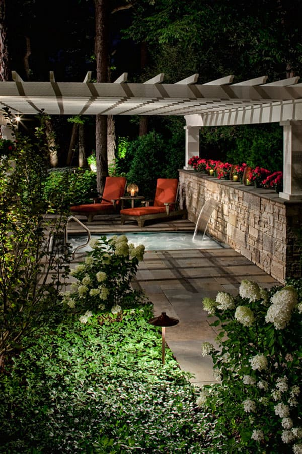 Backyard Hot Tub Patio Designs : 47 Irresistible hot tub spa designs for your backyard