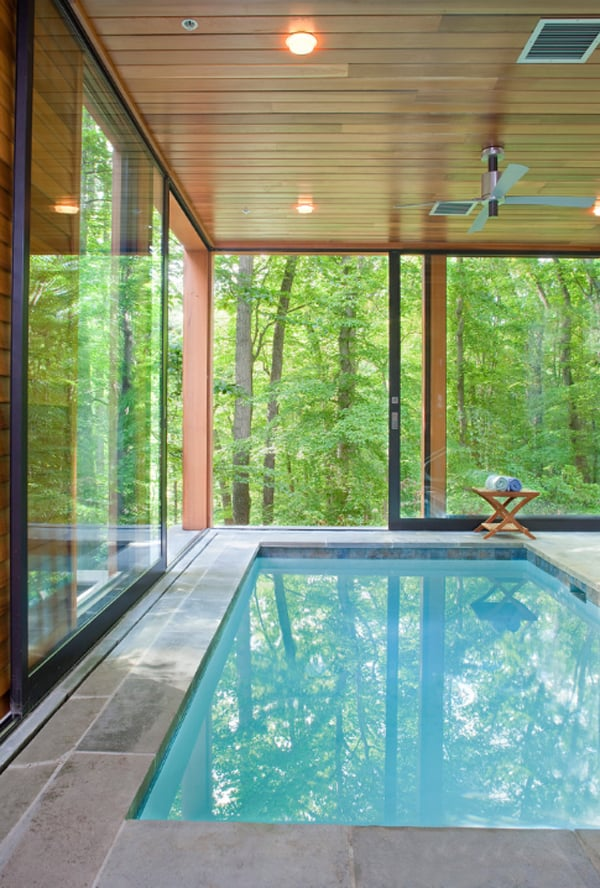 50 ridiculously amazing modern indoor pools for Pool design indoor
