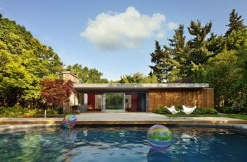 Mid-century modern pool house by +tongtong