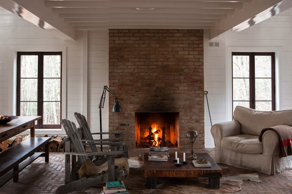 Give your tired old fireplace a fresh new look for summer - How to make a brick fireplace look modern ...