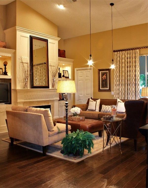 43 cozy and warm color schemes for your living room Warm cozy living room ideas