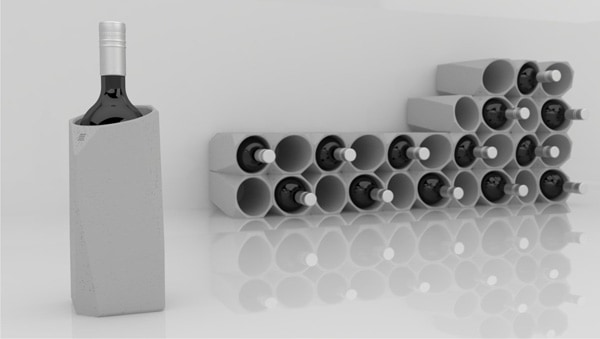 IntoConcrete-Corvi Concrete Wine Cooler-02-1 Kindesign