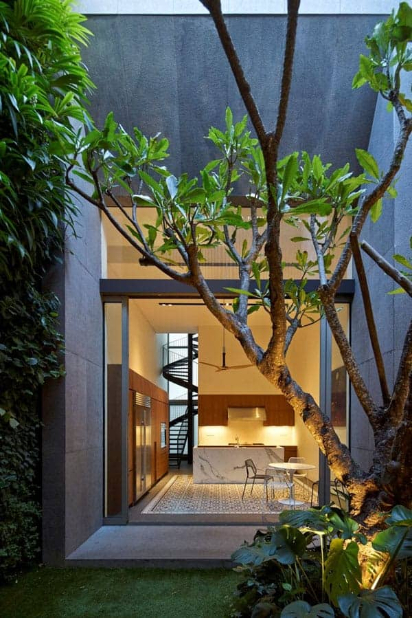 featured posts image for Renovated shophouse into modern family home in Singapore