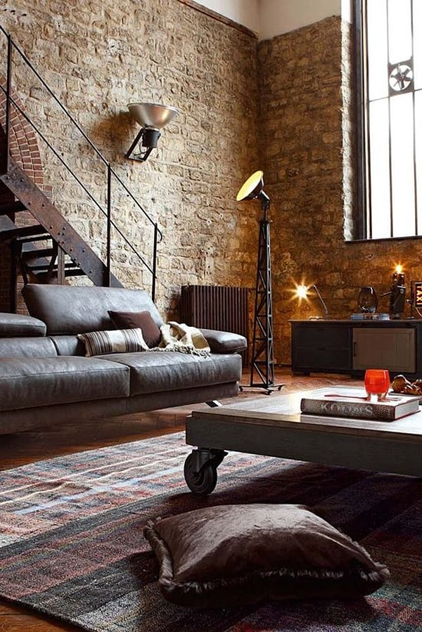 Industrial Living Rooms-05-1 Kindesign