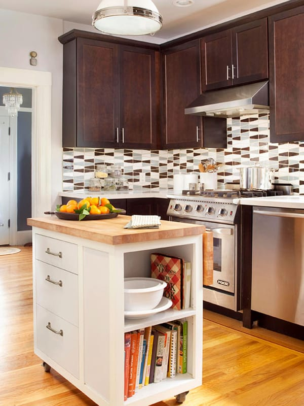 48 Amazing space-saving small kitchen island designs