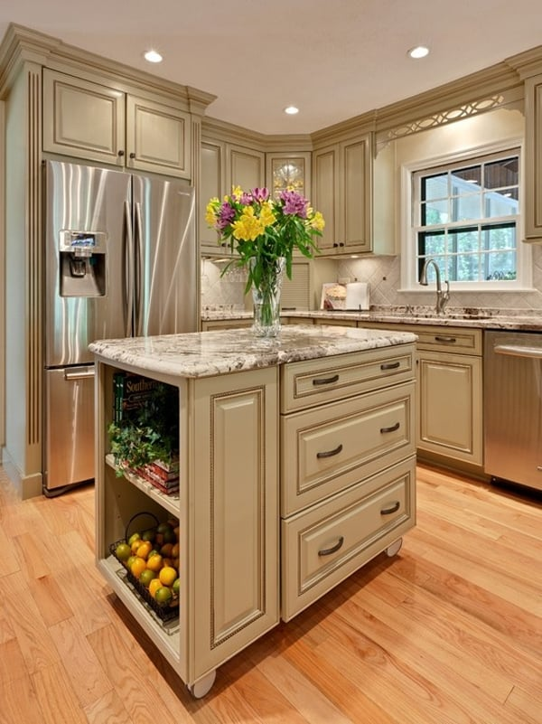 48 amazing space saving small kitchen island designs for Kitchen island cabinet plans