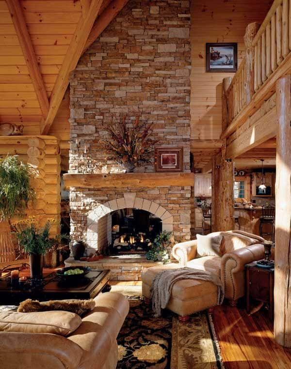 log cabin living room decor 47 extremely cozy and rustic cabin style living rooms 20966