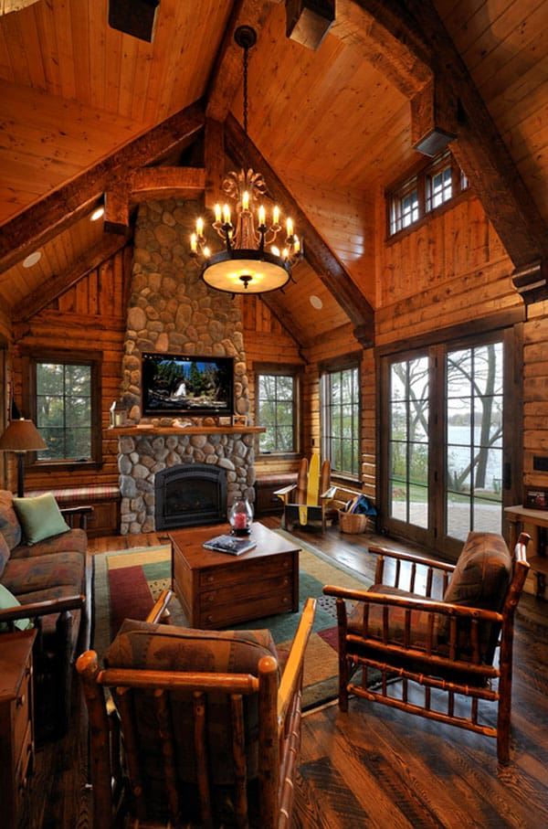 One Room Hunting Cabin Interior Joy Studio Design