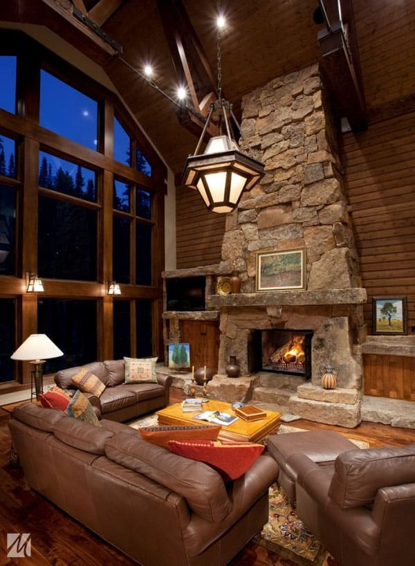 cabin living room 47 extremely cozy and rustic cabin style living rooms 10300