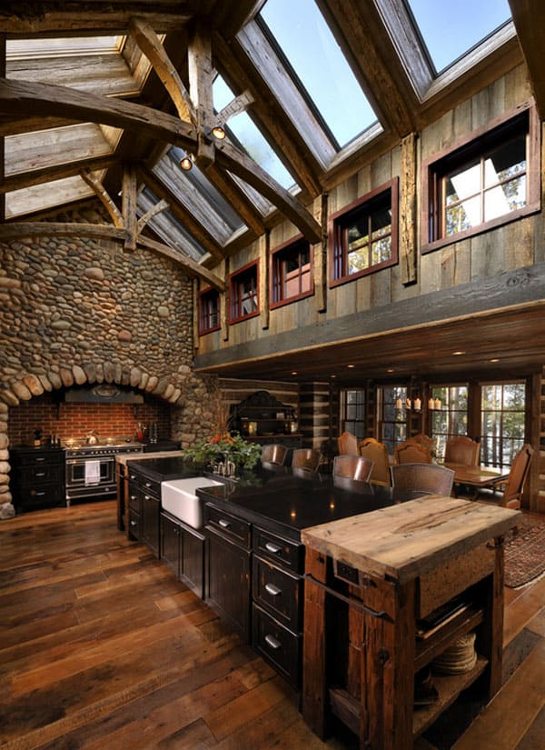 53 sensationally rustic kitchens in mountain homes Rustic home architecture