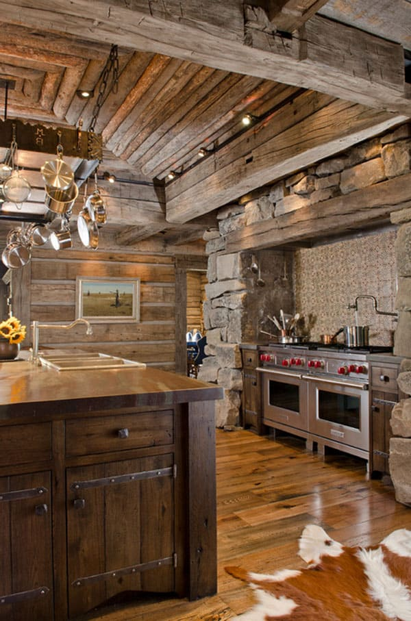 kitchen designs for cabins 53 sensationally rustic kitchens in mountain homes 276