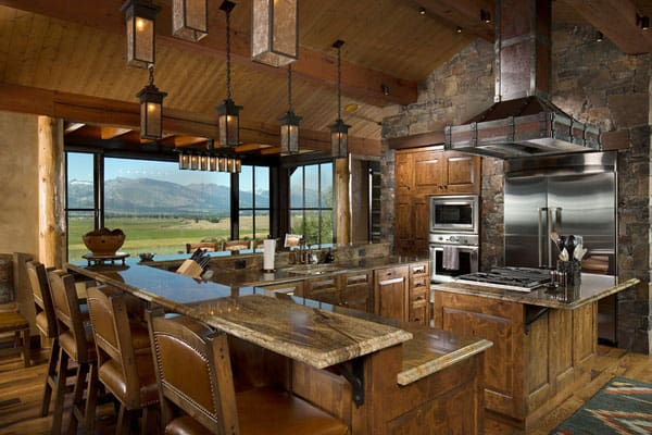 rustic cabin kitchen cabinets 53 sensationally rustic kitchens in mountain homes 271