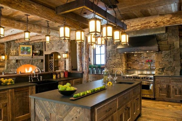53 sensationally rustic kitchens in mountain homes. Black Bedroom Furniture Sets. Home Design Ideas