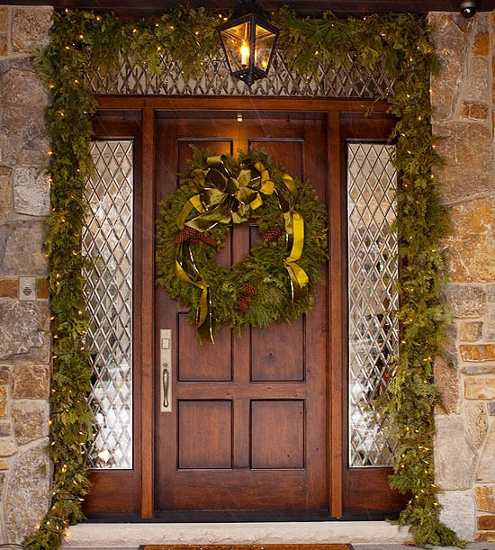 front door decorations 50 fabulous outdoor decorations for a winter 30769
