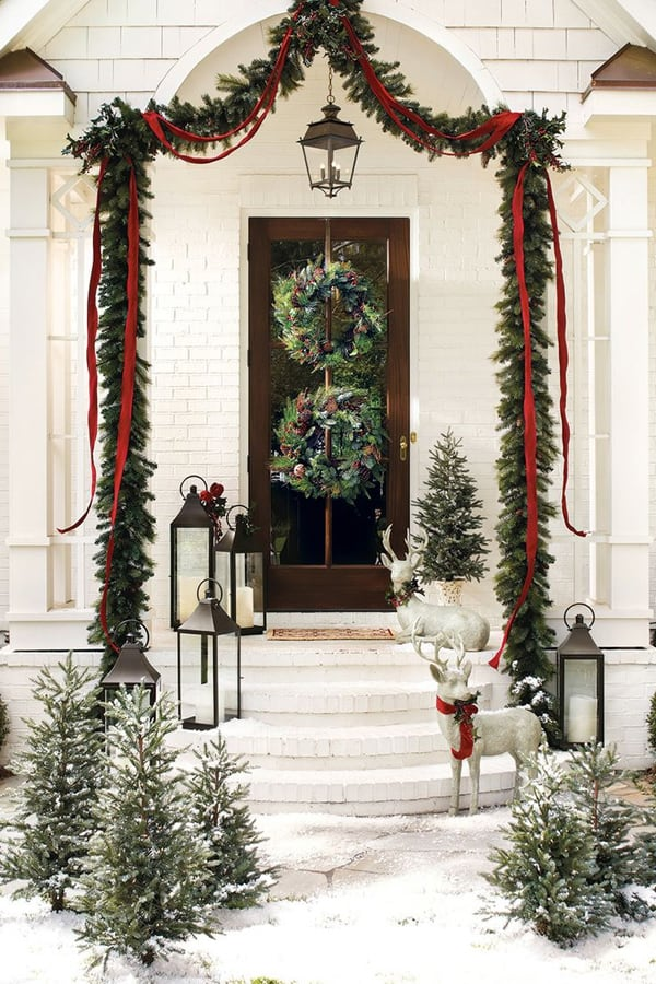 50 fabulous outdoor christmas decorations for a winter Traditional outdoor christmas decorations