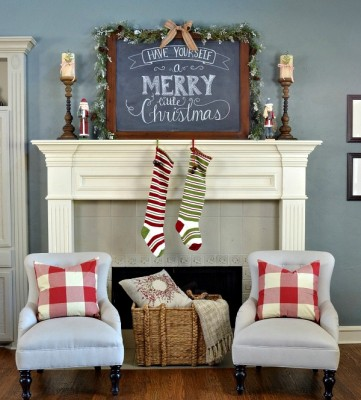 Rustic Christmas Decorating Ideas-01-1 Kindesign