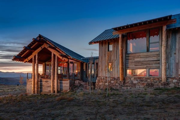 featured posts image for Rustic modern day log home in Utah: Wolf Creek Ranch