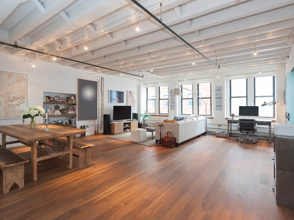 featured posts image for Modern TriBeCa loft with industrial features