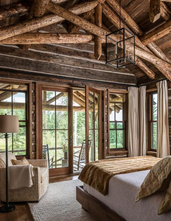 Breathtaking rustic mountain home in big sky ansel haus Rustic home architecture