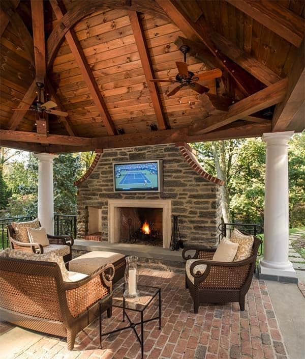 53 Most amazing outdoor fireplace designs ever on Amazing Outdoor Fireplaces id=88769