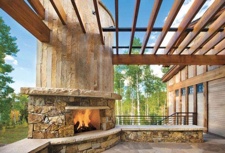 53 Most amazing outdoor fireplace designs ever on Amazing Outdoor Fireplaces id=28398