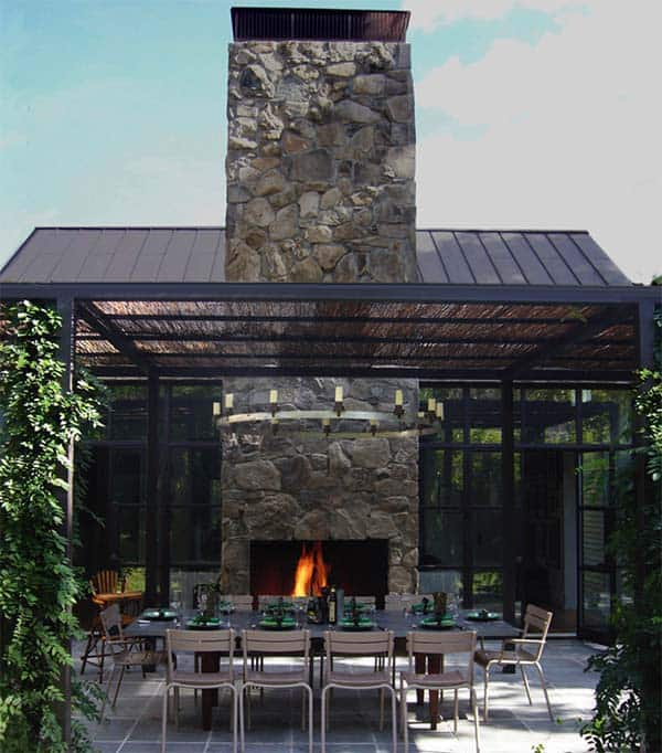 53 Most amazing outdoor fireplace designs ever on Amazing Outdoor Fireplaces id=69765