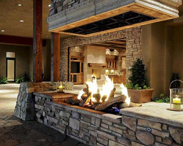 53 Most amazing outdoor fireplace designs ever on Amazing Outdoor Fireplaces id=77799