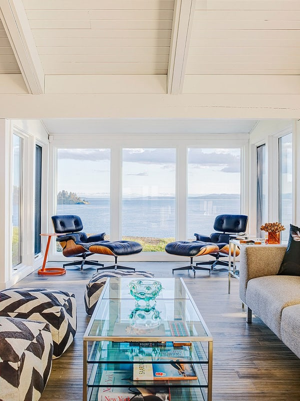 Mid century modern beach house retreat on pender island for In home design consultant