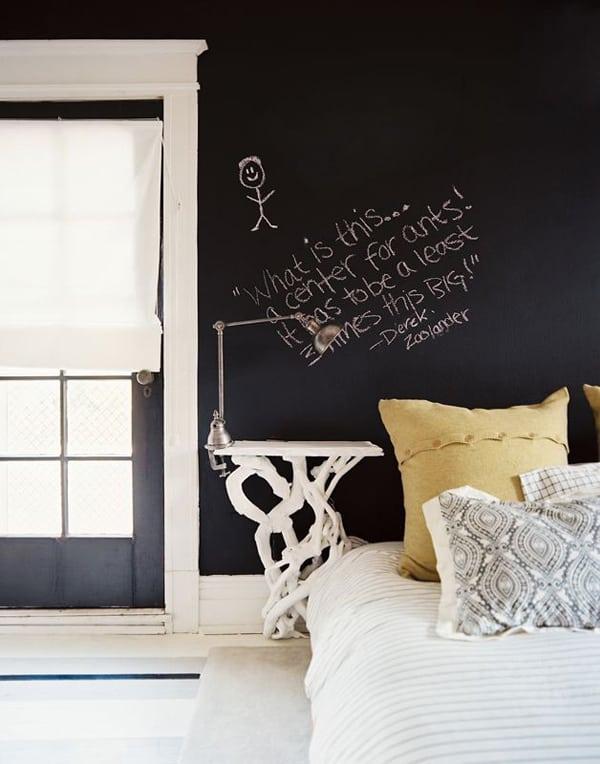 Chalkboard Headboard Ideas-03-1 Kindesign