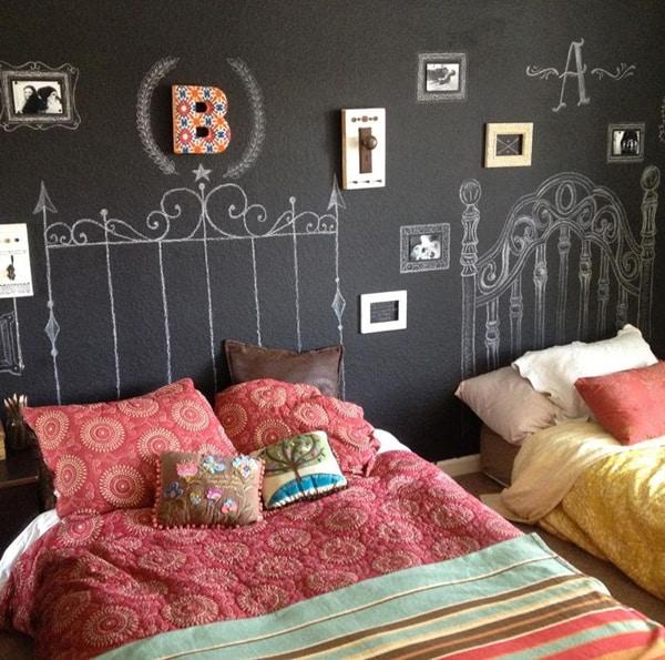 Chalkboard Headboard Ideas-28-1 Kindesign