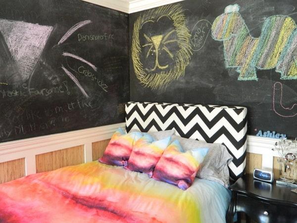 Chalkboard Headboard Ideas-41-1 Kindesign