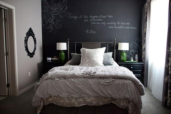 Chalkboard Headboard Ideas-42-1 Kindesign