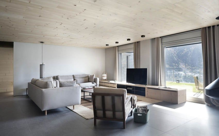 featured posts image for Contemporary home showcasing wood interiors in Andorra La Vella