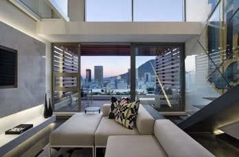 De Waterkant modern duplex apartment in Cape Town by SAOTA