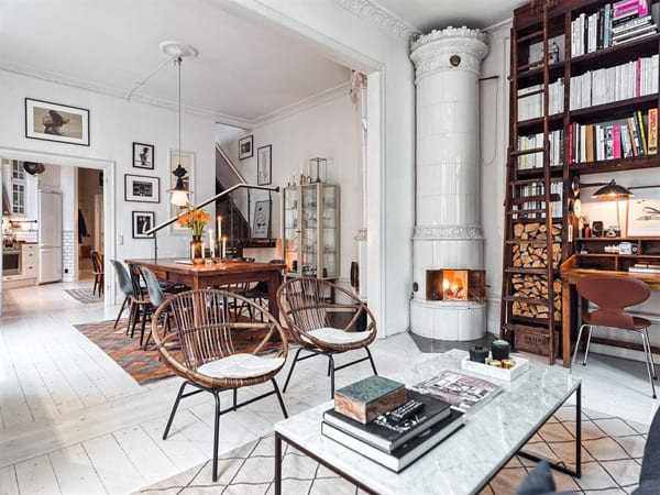 featured posts image for Charming loft duplex with Scandinavian details in Kungsholmen