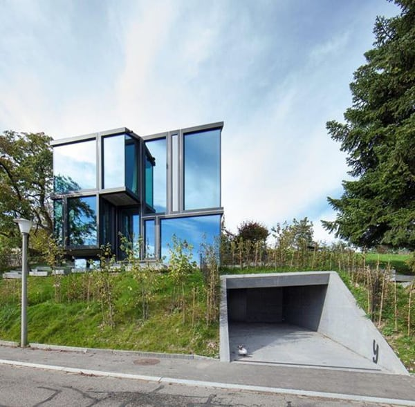 featured posts image for Modern concrete and glass structure in Switzerland: Trübel