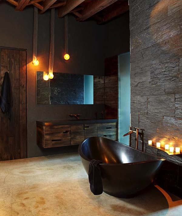 Dark and Moody Bathrooms-01-1 Kindesign