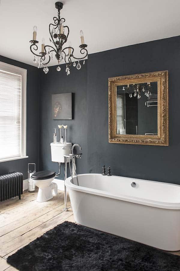 Dark and Moody Bathrooms-04-1 Kindesign