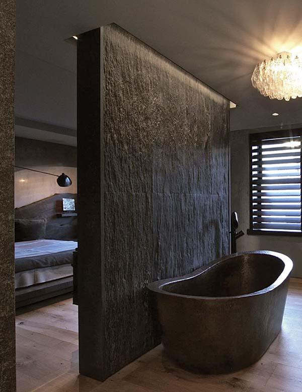 Dark and Moody Bathrooms-05-1 Kindesign