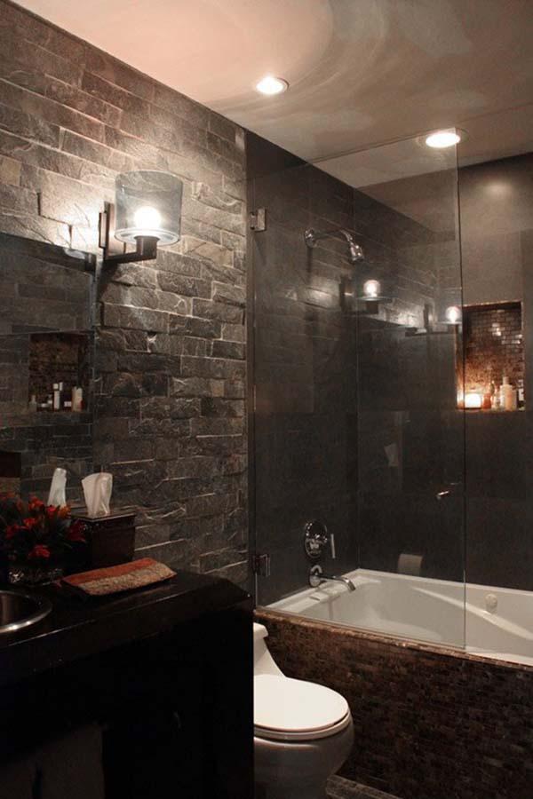 Dark and Moody Bathrooms-09-1 Kindesign