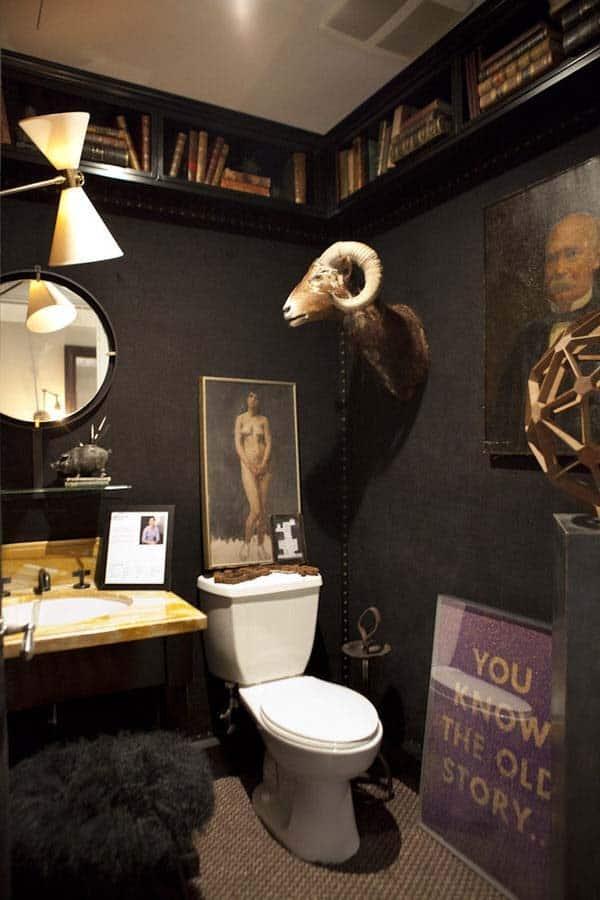 Dark and Moody Bathrooms-11-1 Kindesign