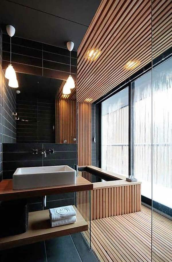 Dark and Moody Bathrooms-19-1 Kindesign