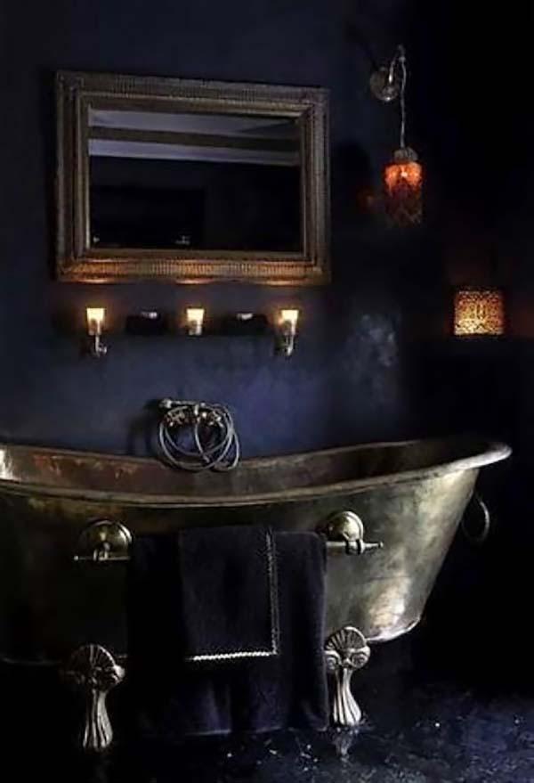 Dark and Moody Bathrooms-29-1 Kindesign