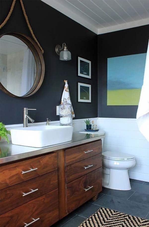 Dark and Moody Bathrooms-33-1 Kindesign
