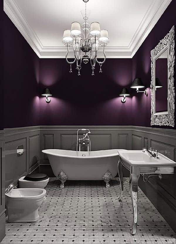 Dark and Moody Bathrooms-41-1 Kindesign