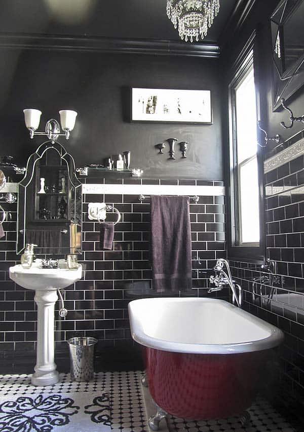 Dark and Moody Bathrooms-42-1 Kindesign