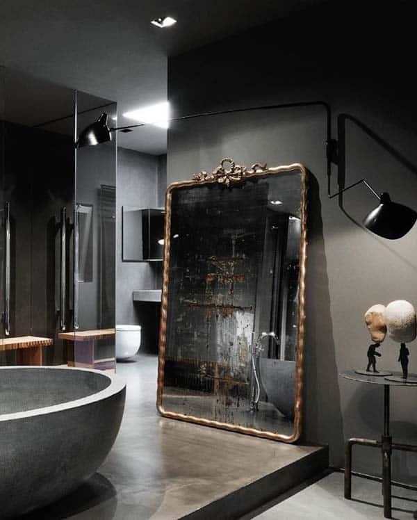 Dark and Moody Bathrooms-43-1 Kindesign
