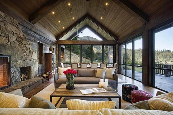 Mountain Lodge Eclectic-Michael Rex Architects-05-1 Kindesign