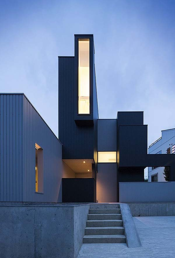 featured posts image for Scape House: Modern hillside home with varying geometry in Japan