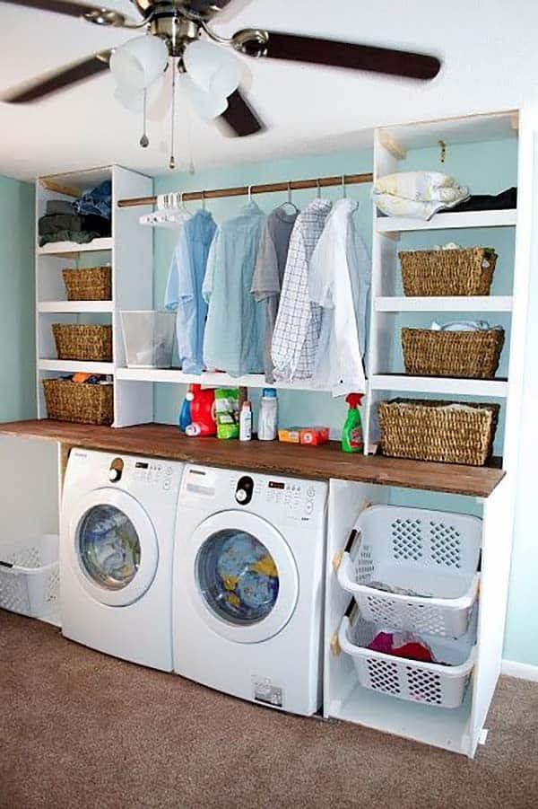 60 Amazingly inspiring small laundry room design ideas on Small Laundry Ideas  id=98486